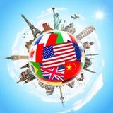 Illustration des berühmten Monuments der Welt Lizenzfreie Stockfotos