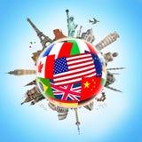 Illustration des berühmten Monuments der Welt Lizenzfreies Stockbild