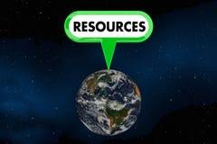 Illustration des Betriebsmittel-Planeten-Erdumweltschutz-3d Lizenzfreie Stockfotografie