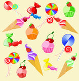 Illustration des bonbons Photos libres de droits
