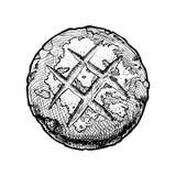Illustration des Brotes Stockfotos