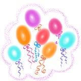 Illustration des bunten Ballons für Feierpartei Lizenzfreie Stockbilder