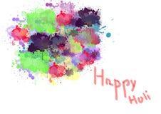 Illustration des bunten fördernden Hintergrundes für Festival der Farbfeier nannte holi Stockfotos