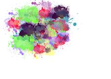 Illustration des bunten fördernden Hintergrundes für Festival der Farbfeier nannte holi, linken Platz, um zu schreiben Stockfotos