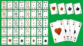 Illustration des cartes de jeu illustration stock