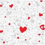 Illustration des coeurs rouges Photographie stock libre de droits