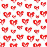 Illustration des coeurs rouges d'aquarelle illustration stock