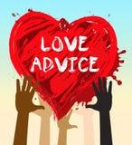 Illustration des conseils 3d de mariage de moyens de conseil d'amour illustration stock