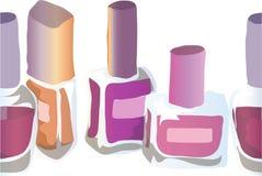 Illustration des cosmétiques Vernis à ongles Configuration sans joint Photo libre de droits