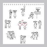 Illustration des couples mignons Image stock