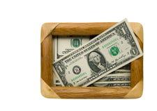 Illustration des dénominations du dollar Photos stock