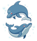 Illustration des dauphins de dessin animé illustration libre de droits