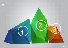 Illustration des diagrammes 3D Photographie stock libre de droits