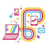 Illustration des dispositifs de relier illustration libre de droits