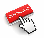 Illustration des Downloadknopf-Konzeptes 3d Stockbilder