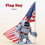 Illustration des Etats-Unis 3d de robot illustration stock