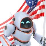 Illustration des Etats-Unis 3d de robot Photographie stock libre de droits