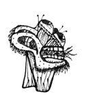 Illustration des Fantasie-Monster-Handabgehobenen betrages Lizenzfreie Stockbilder