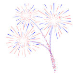 Illustration des feux d'artifice d photographie stock libre de droits