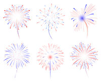 Illustration des feux d'artifice d images stock