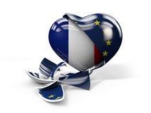 Illustration des Frances FRexit, Union européenne cassée Photo libre de droits
