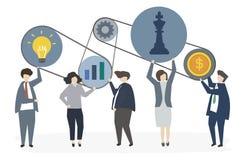 Illustration des gens d'affaires d'entreprise illustration de vecteur