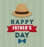 Illustration des glücklichen Vatertags Lizenzfreies Stockbild
