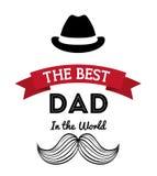 Illustration des glücklichen Vatertags Stockfotos