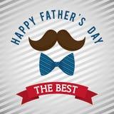 Illustration des glücklichen Vatertags Lizenzfreies Stockfoto