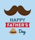 Illustration des glücklichen Vatertags Stockbilder