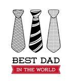 Illustration des glücklichen Vatertags Lizenzfreie Stockfotografie
