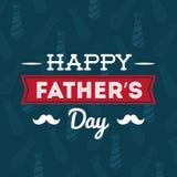 Illustration des glücklichen Vatertags Lizenzfreie Stockfotos
