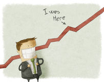 Illustration des glücklichen Geschäftsmannes Stockbilder