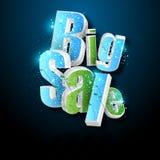 Illustration des großen Verkaufsplakats Stockfoto