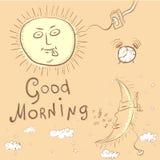 Illustration des guten Morgens Lizenzfreie Stockfotos