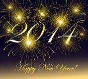 Illustration des guten Rutsch ins Neue Jahr-2014-Vector. Lizenzfreies Stockbild