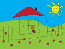 Illustration des Hauses Lizenzfreie Stockbilder