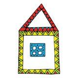 Illustration des Hauses Stockfoto