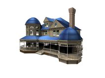 Illustration des Hauses 3d vektor abbildung
