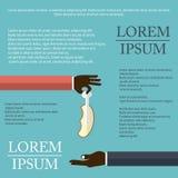 Illustration des helthy Lebensmittels im flachen Design auf Hintergrund Stockfotos