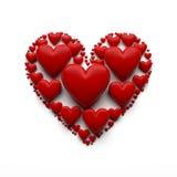 Illustration des Herzens 3D auf dem Weiß - lokalisiert Lizenzfreies Stockfoto
