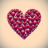 Illustration des Herzens 3D - lokalisiert Lizenzfreies Stockbild