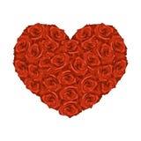Illustration des Herzens von den roten Rosen lizenzfreie abbildung