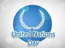 Illustration des Hintergrundes der Vereinten Nationen Tages Lizenzfreie Stockfotos