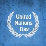 Illustration des Hintergrundes der Vereinten Nationen Tages Lizenzfreie Stockfotografie