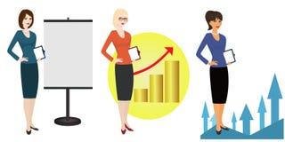 Illustration des in hohem Grade erfahrenen Referenten auf weißem Hintergrund Lizenzfreies Stockbild