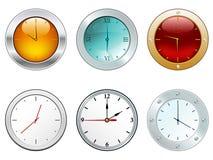 Illustration des horloges lustrées Photographie stock