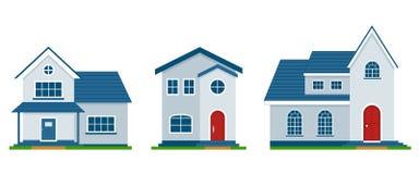 Illustration des immobiliers de maisons et du bâtiment privé Images libres de droits