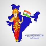 Illustration des Indien-Unabhängigkeitstag-Hintergrundes stock abbildung