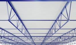 Illustration des Industriegebäude-Metalldach-3d Lizenzfreies Stockbild